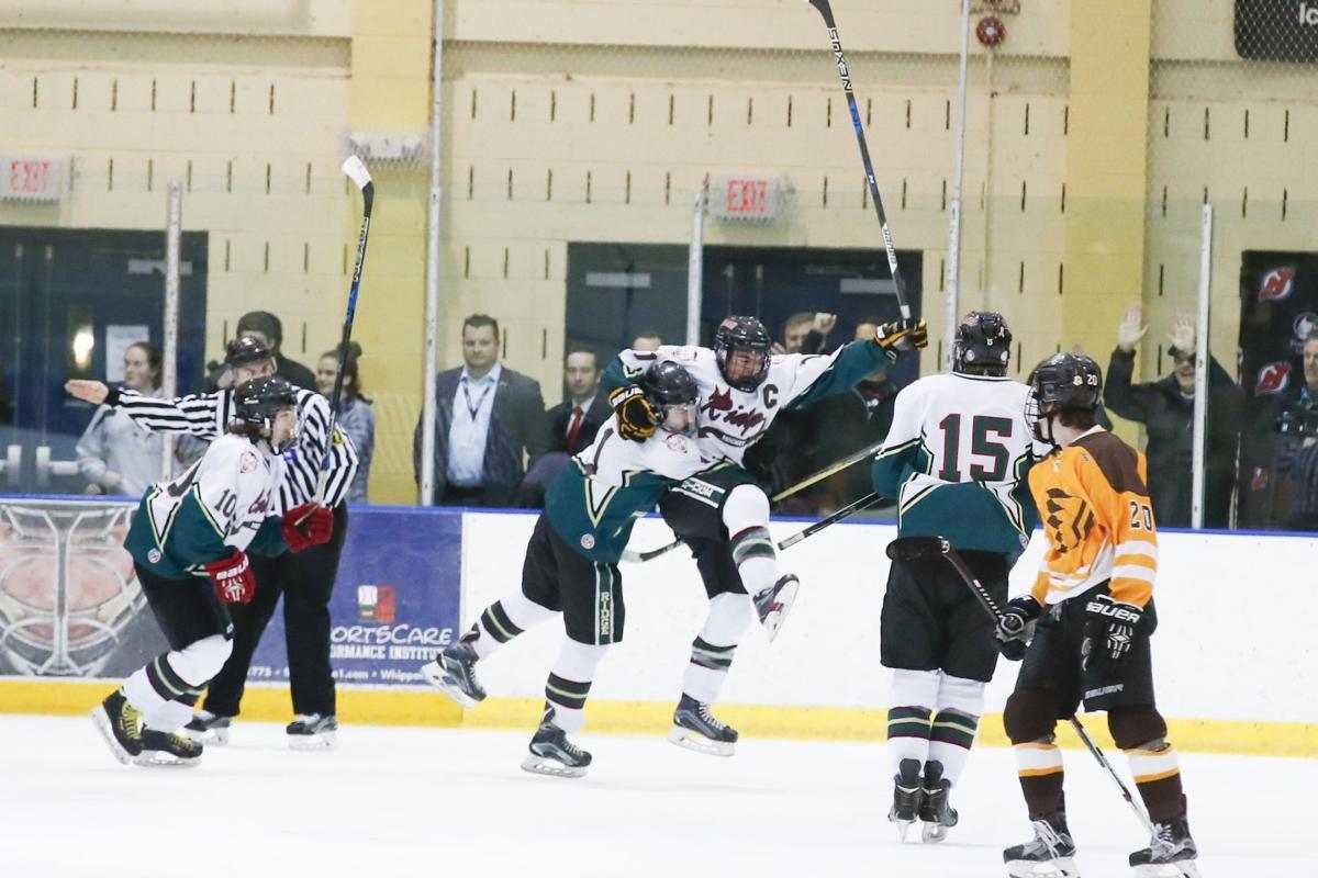 Ridge ice hockey celebration
