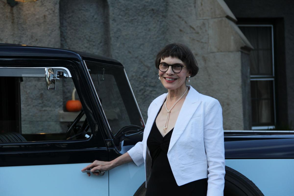 Alix Weisz of Gladstone with Stable, Ltd vintage Rolls Royce.JPG