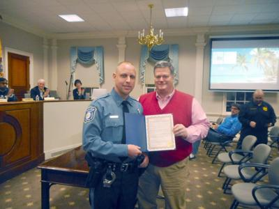 Cop Honored