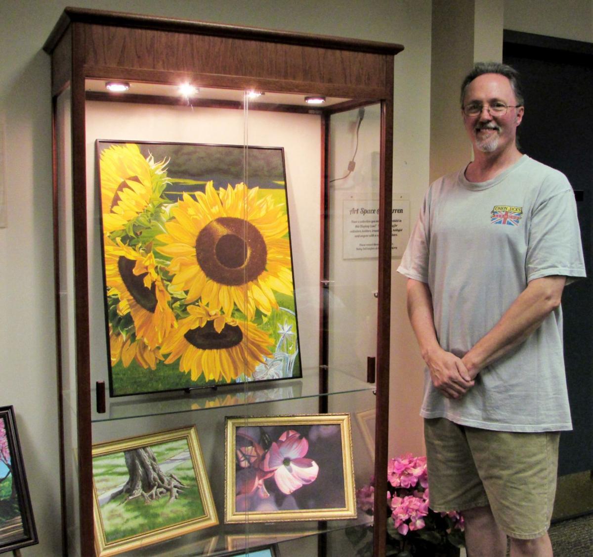 Mark Kreiss with artwork