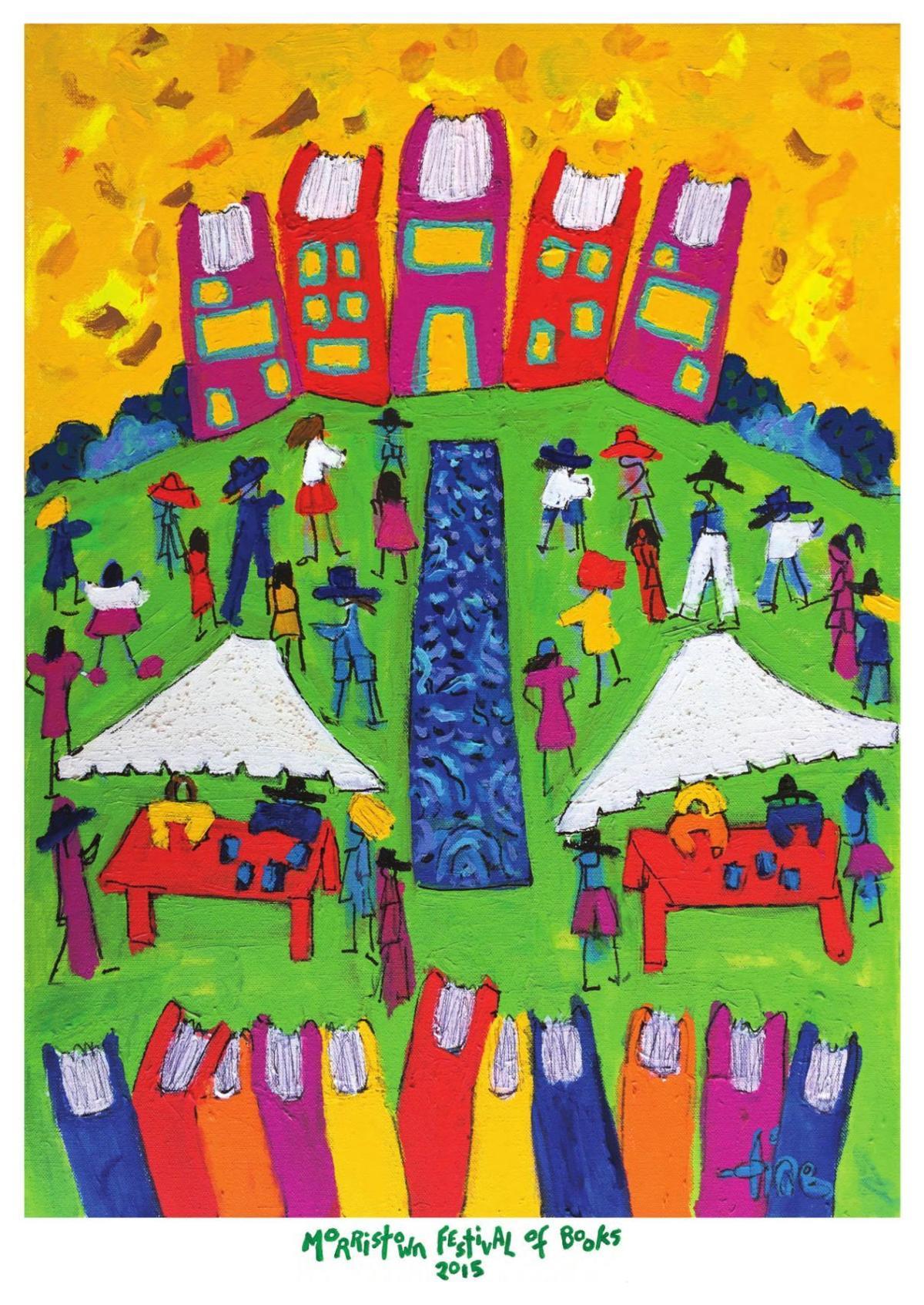 2015 Morristown Festival of Books Poster