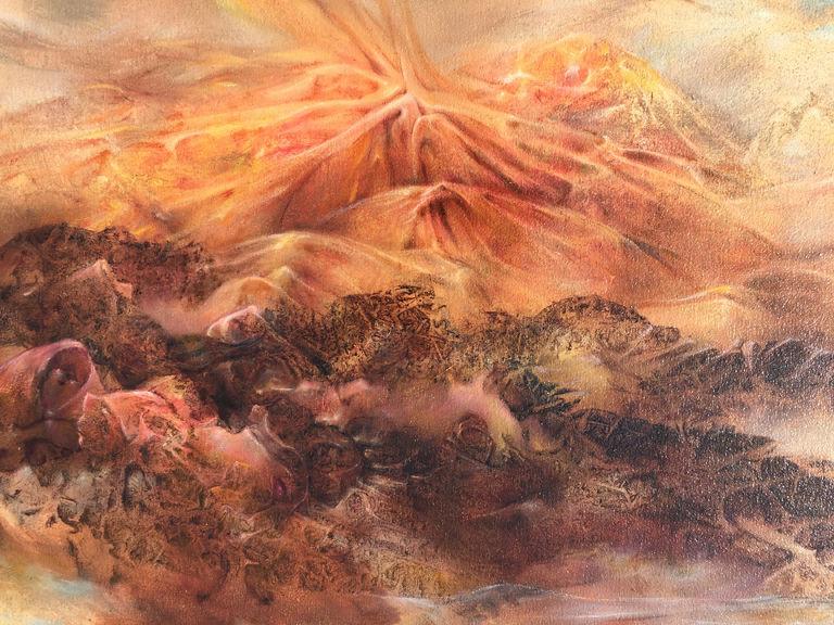 """Jan ten Broeke, """"Ten's Art, 2002-6-20,"""" 24"""" x 18"""", oil on panel."""