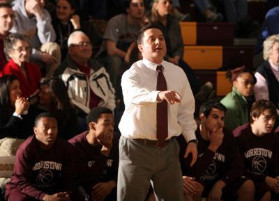 Morristown High School boys basketball coach Bill Connolly