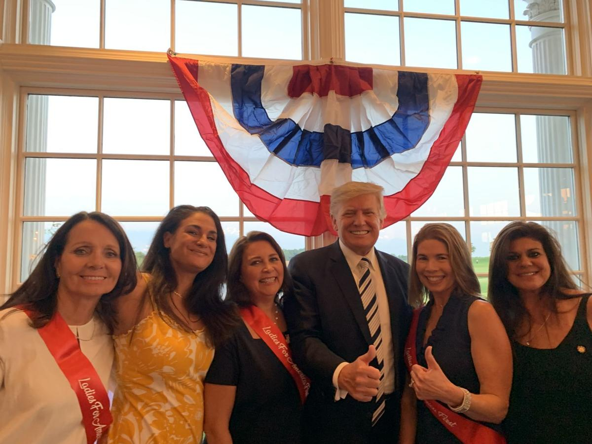 Tewksbury's Ladies for America First get surprise visit from the former president at Trump National Golf Club