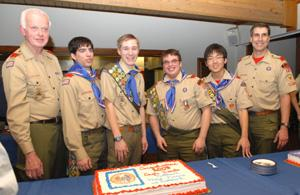 Boy Scout Troop 32 - 4 become Eagle Scouts at advancement dinner