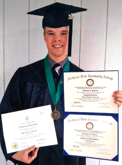 Valentine honors graduate at Northeast State