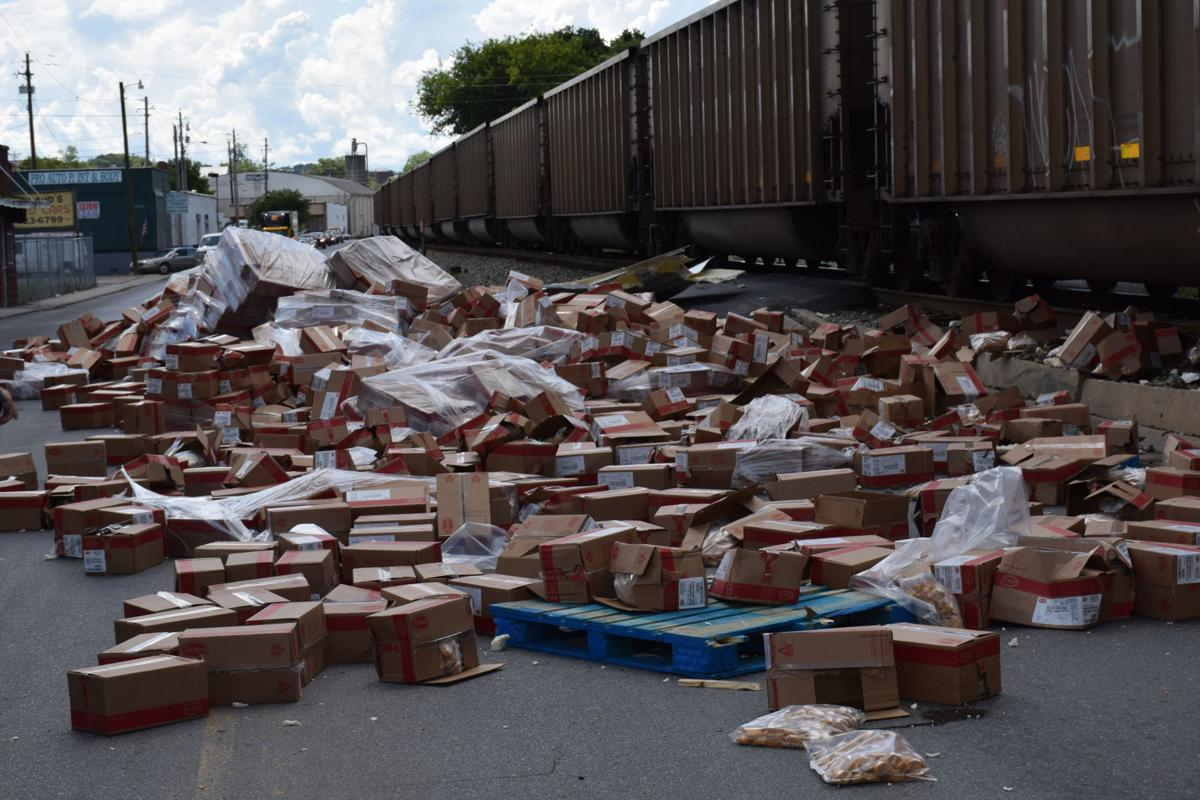 Train crushes truck full of chicken nuggets