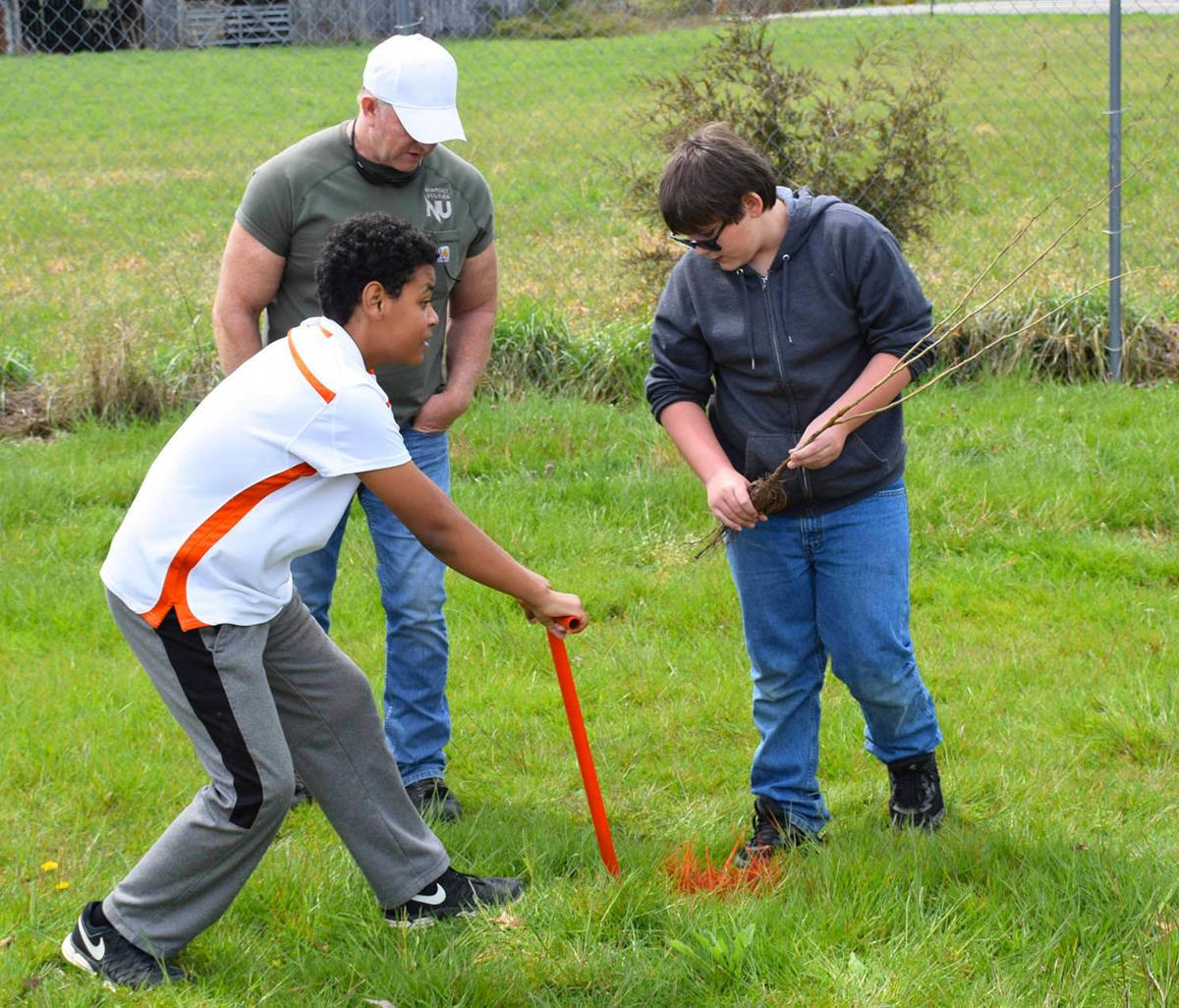 Chestnut Elementary: Trees Planted At Local Elementary Schools