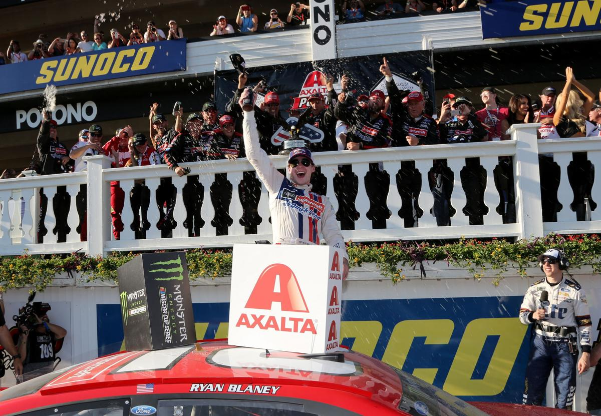 Ryan Blaney captures first Cup victory in dramatic Pocono 400 ...