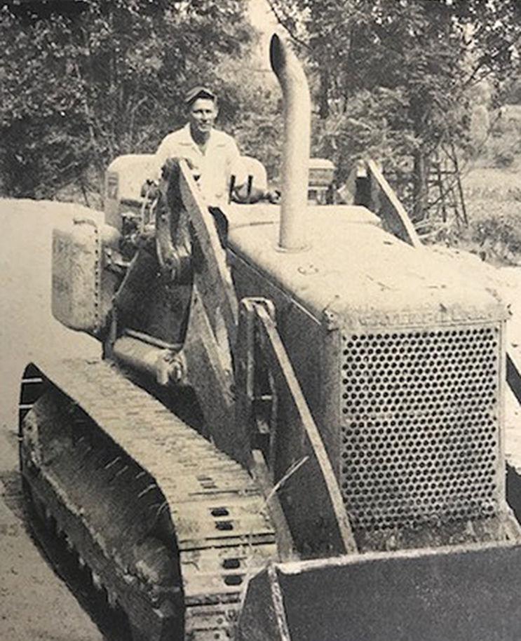 Hommel used his bulldozer