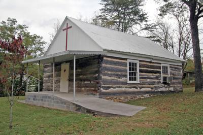 Old Log Church at Bat Harbor