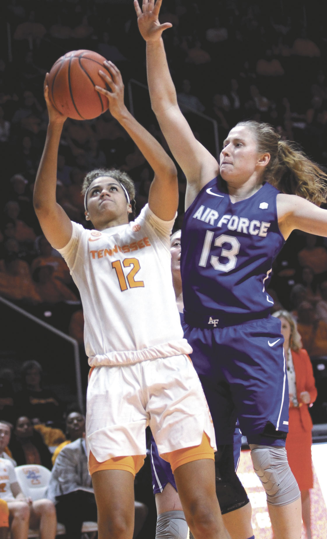BASKETBALL: Tennessee's Rae Burrell vs. Air Force