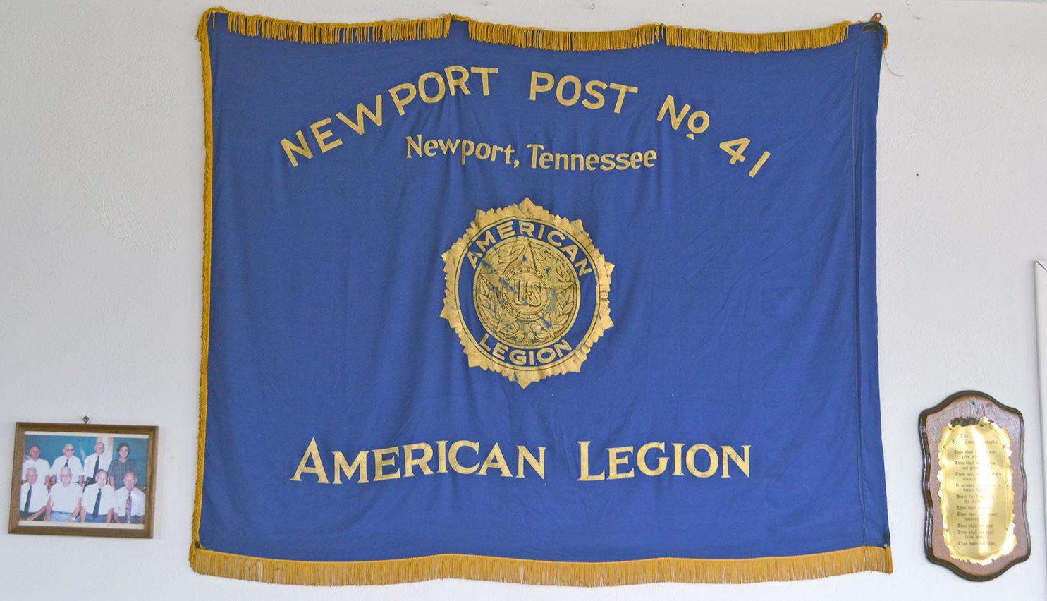 American Legion banner Cocke Countyu0027s Memorial Building