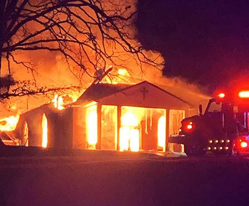 Fire engulfs Forest Hill Church