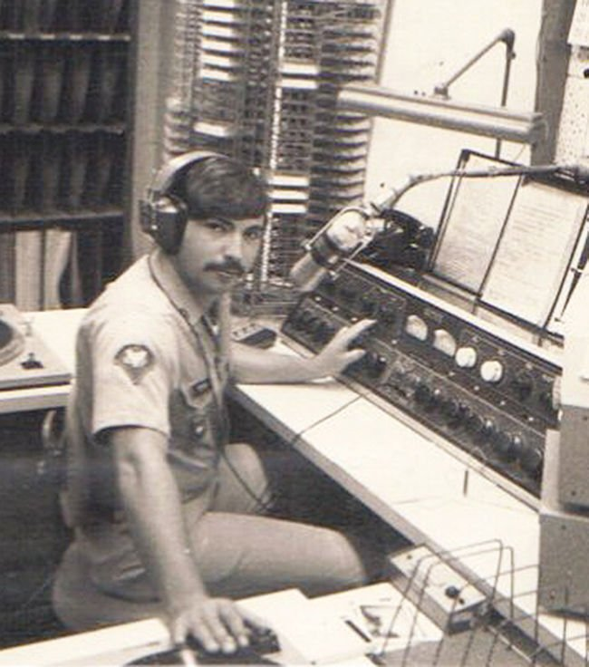 Moore with American Forces Radio
