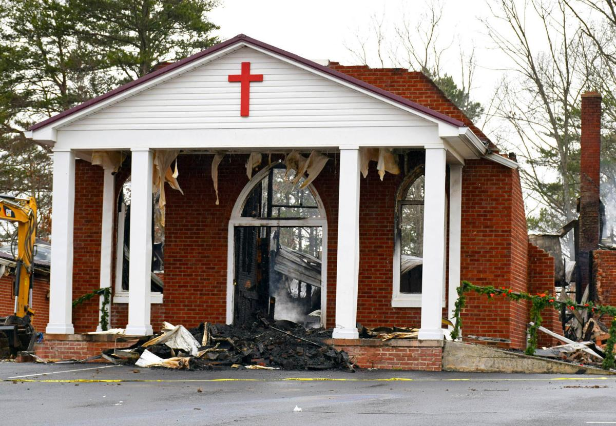 Forest Hill Baptist Church destroyed by fire
