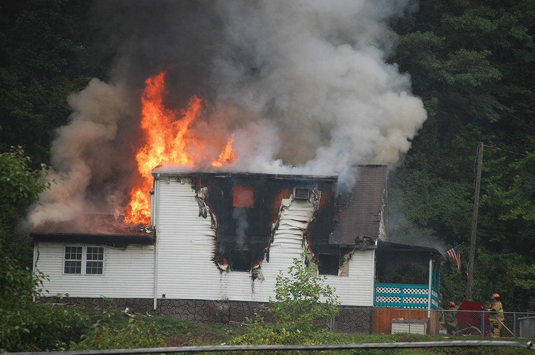 Fire destroys residence at Belfry