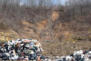 Heavy rains cause landfill landslide