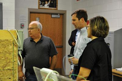 Andy Beshear visits Pike school, discusses jobs plan