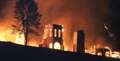 Iconic Loftis Mansion burns