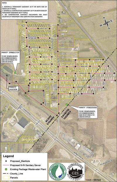 sewer project map