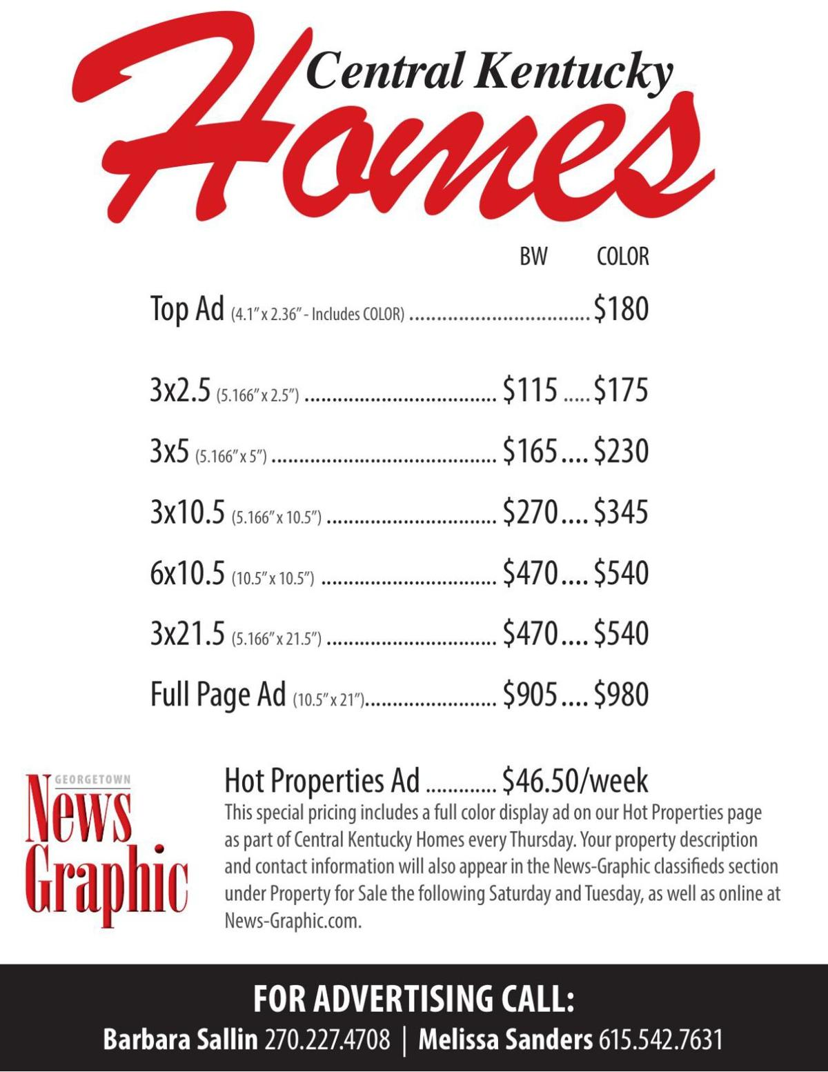 Central KY Homes Rates