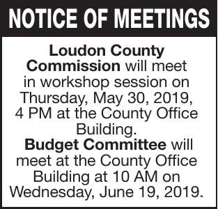 NOTICE OF MEETINGS