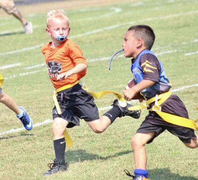 Youth football teams reach midway point
