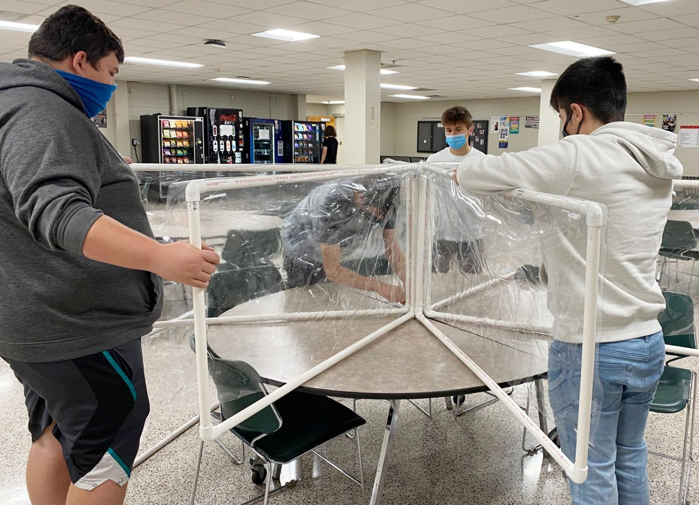 LCHS students help in COVID fight
