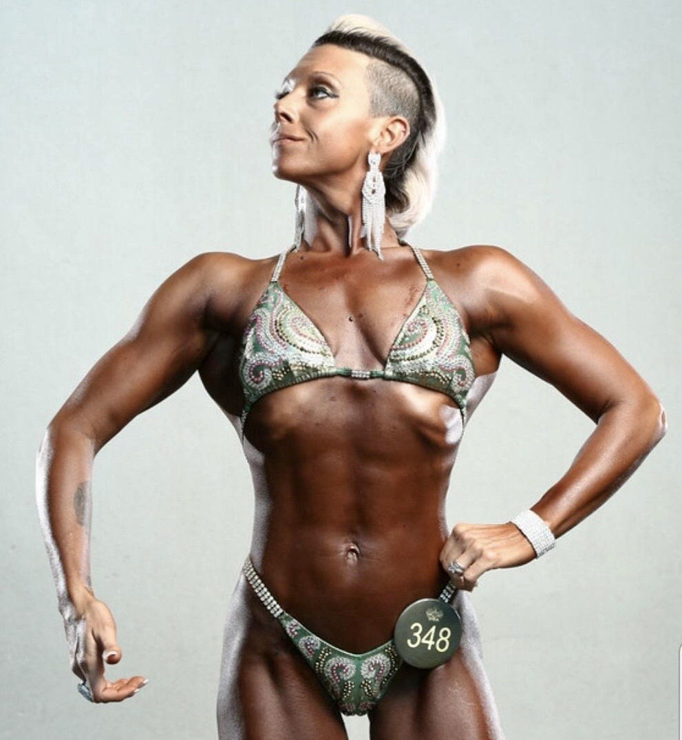 Local female bodybuilder defying the odds
