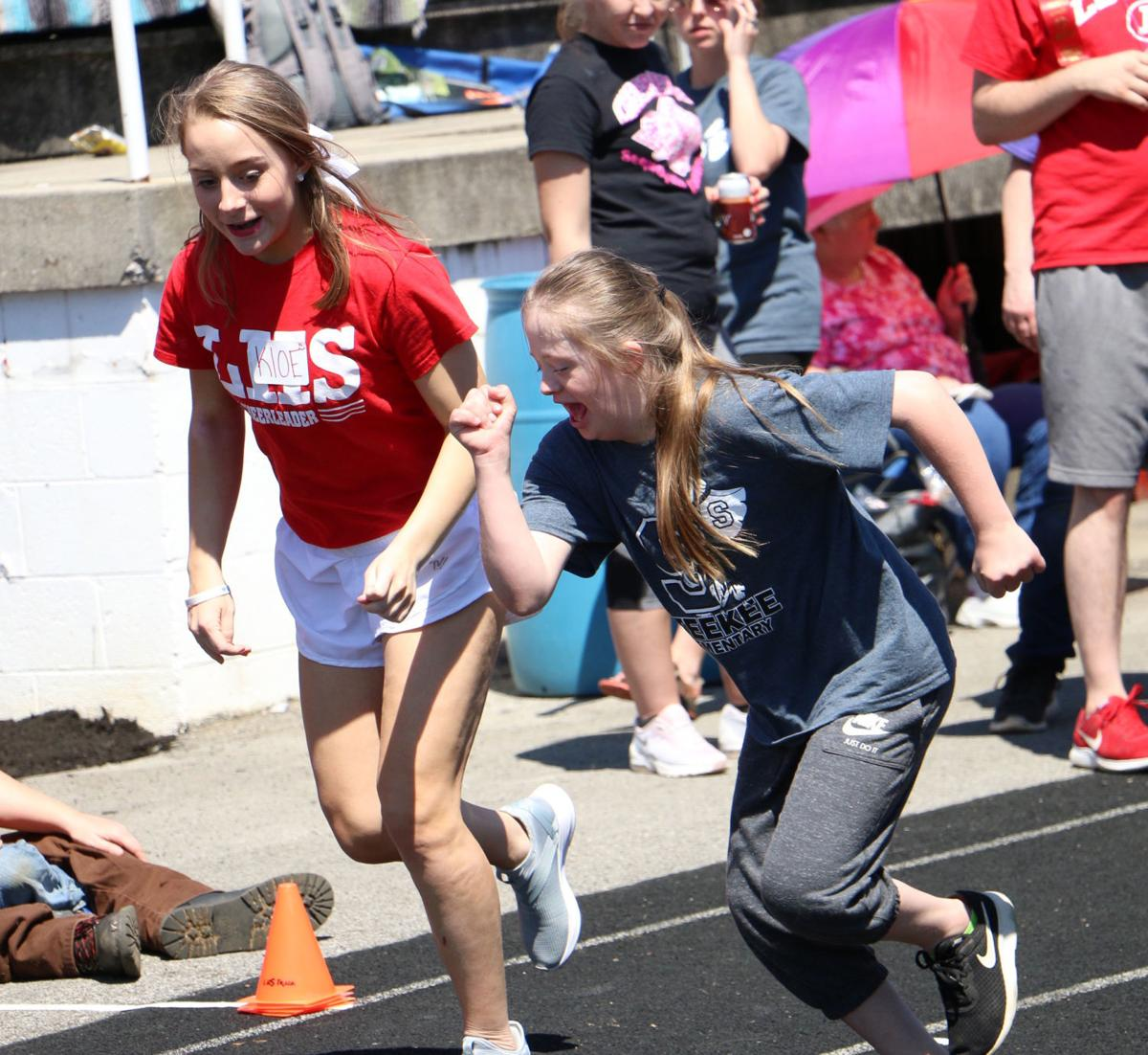 Athletes compete in Special Olympics