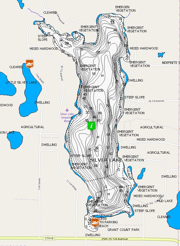 Map of Silver Lake