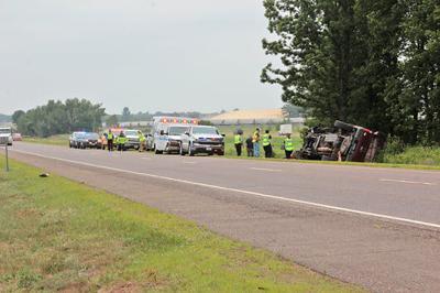 Crash near New Auburn