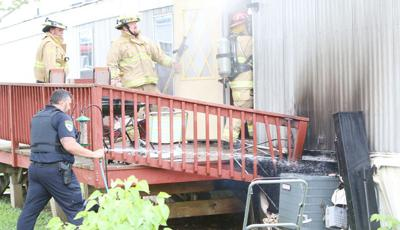 Mill Street trailer damaged