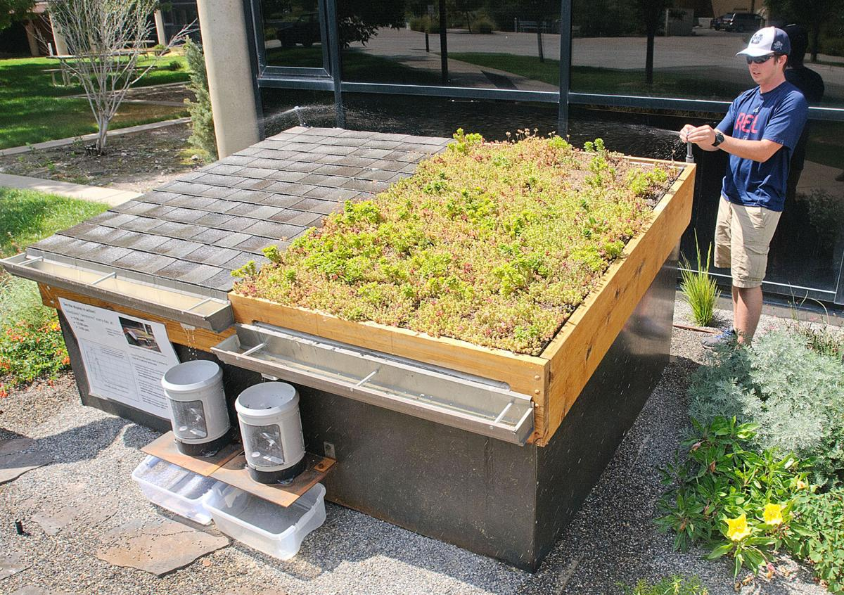 Thumbnail for USU display roofs educate on science of water runoff
