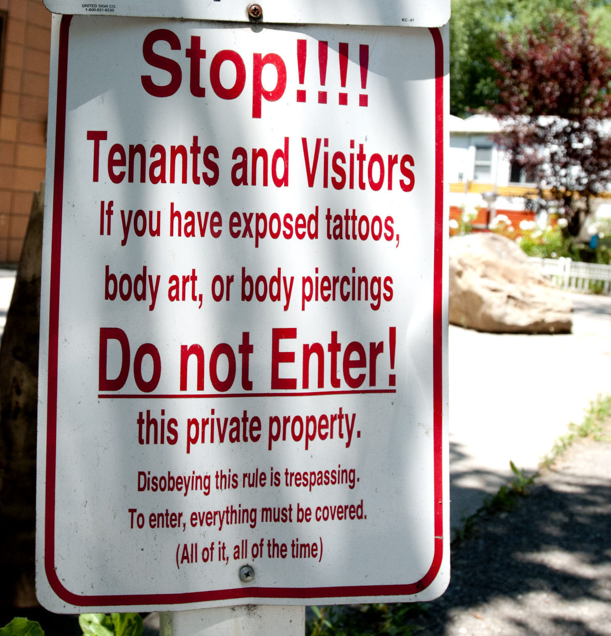 No Tattoos Sign At Logan RV Park Causes Controversy