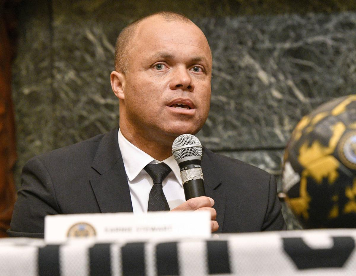 Philadelphia Union Sporting Director Earnie Stewart at Philadelphia City Hall for a presser as part of the Philadelphia Union's March to Soccer on March 7, 2017. Stewart has been named to the newly credited position of general manager for the U.S. men's national soccer team program.