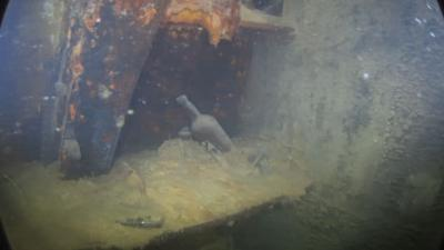 Arctic shipwreck 'frozen in time'