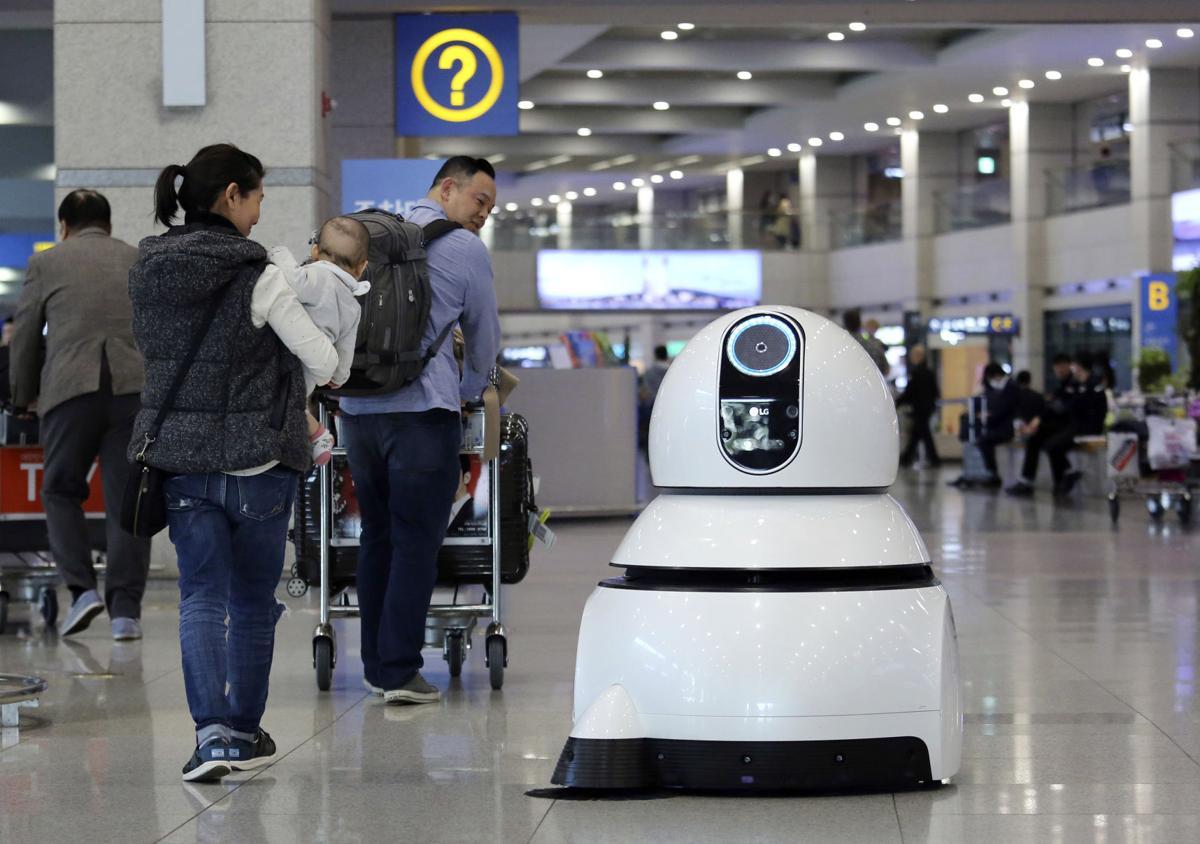 South Korea Airport Robots