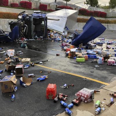 Beer Truck Spill-Mormon Church