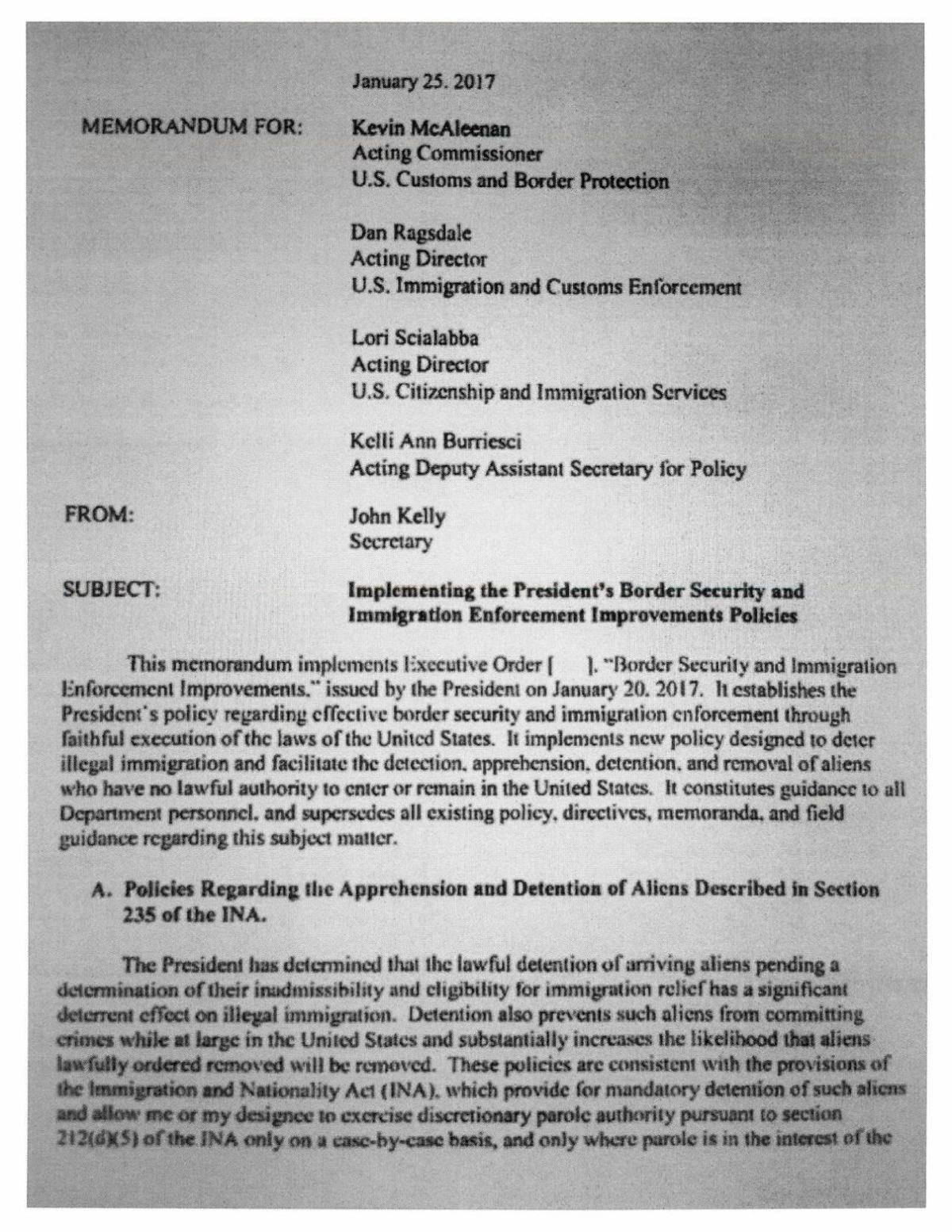 Full document: National Guard draft memo