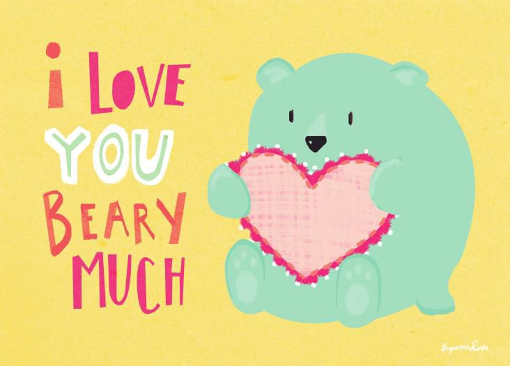picture relating to I Love You Printable Cards identified as I appreciate by yourself beary substantially