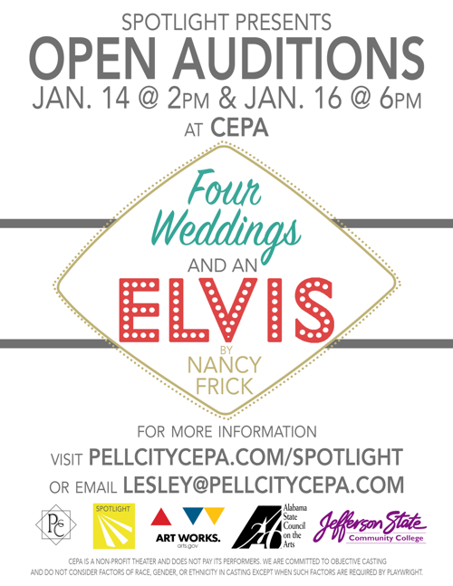 Auditions coming this month for 'Four Weddings and an Elvis