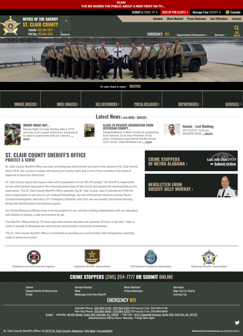St  Clair County Sheriff's Office launches new website, app