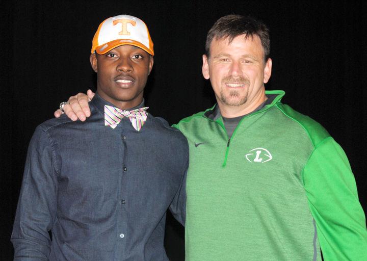 TaDarryl Marshall and Coach Keith Etheredge