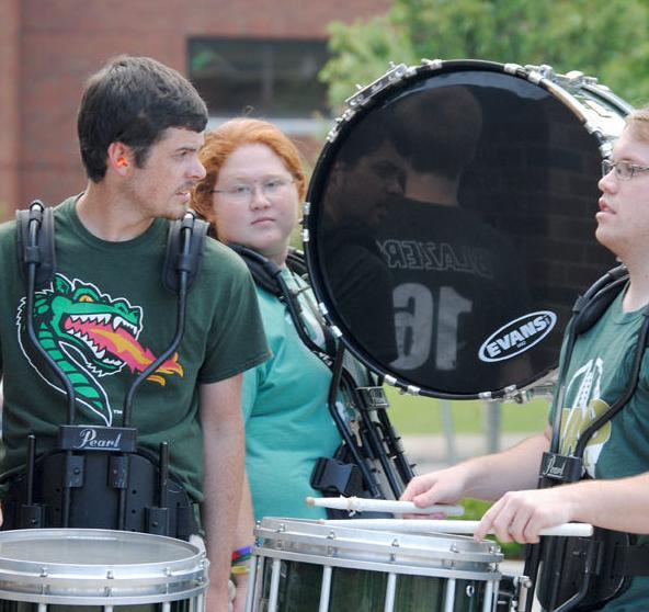 Ellard in UAB Marching Band
