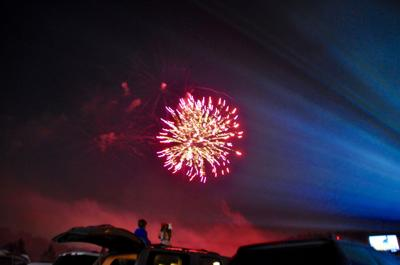 Fireworks at Drive-in on July 3