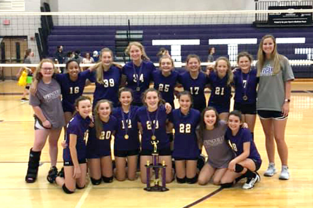 Springville Middle School volleyball
