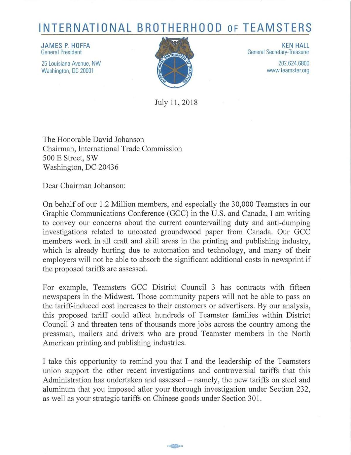 IBT letter to ITC 7-16