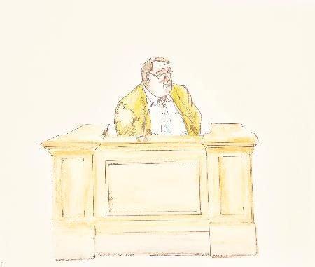 Hall testifying